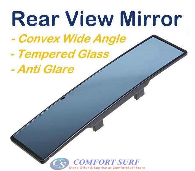 Universal Car Interior Blue Rear Mirror