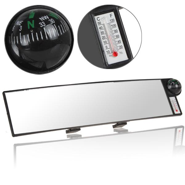 Auto Vehicle Car Real View Inner Interior Mirror With Compass & Temperature Measure Function