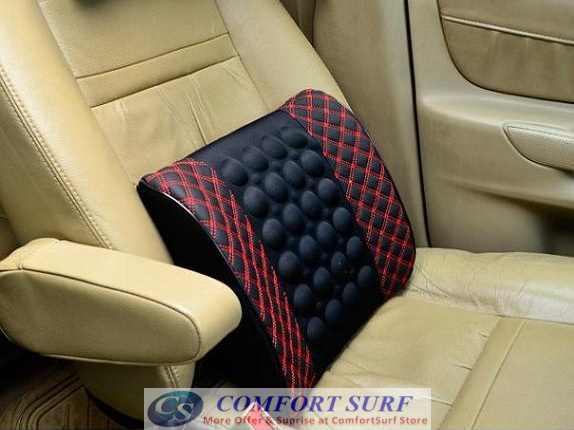 magnetize design backrest cushion car seat back support massage. Black Bedroom Furniture Sets. Home Design Ideas