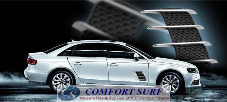 Car Simulation Vent / Decorative Shark Gill Car Side Vents (One Pair)
