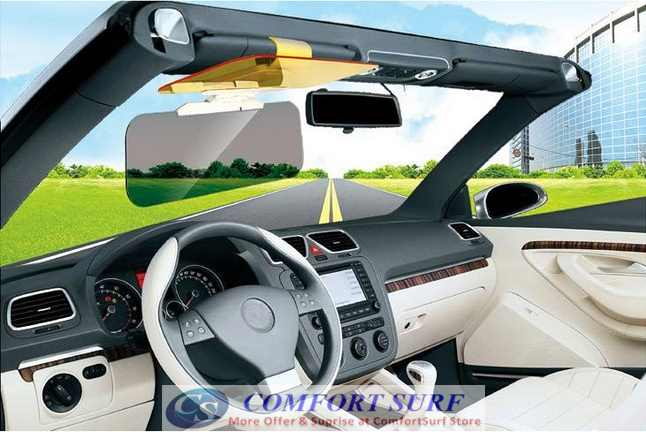 Clip On Anti Dazzle Car Sun Blocker Visor for Day & Night