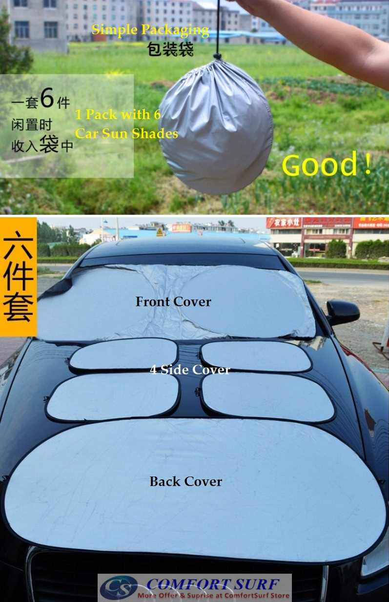 NEW STOCK! 1 Pack with 6 Grey Car Sun Shade