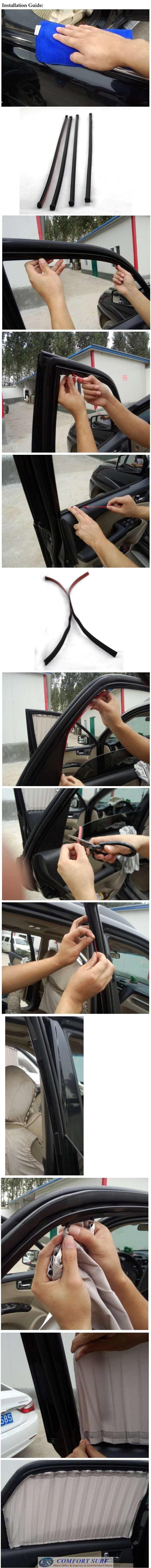 Car Luxury Sun Shade Net Cloth Curtain Protect You from UV / Hot Sunlight