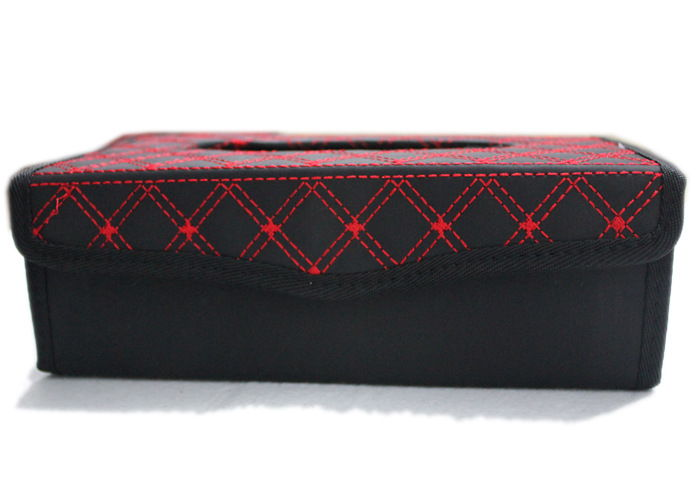 Latest Design !! Leather Red Wine Series Tissue Paper Box Holder