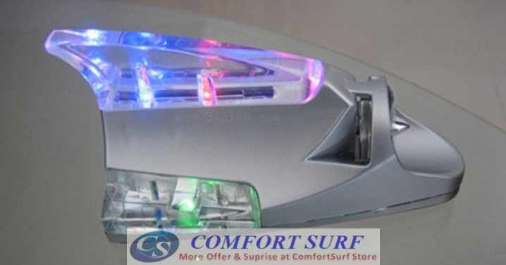 Car Decorative Wind Power Shark LED Light