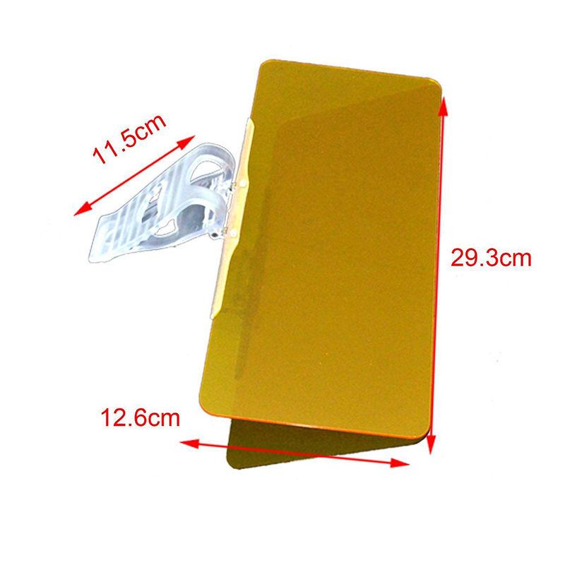 HD Clear EASY Vision Day & Night Sun Visor Anti-Glare UV Blocker Fold Flip Clip ON only