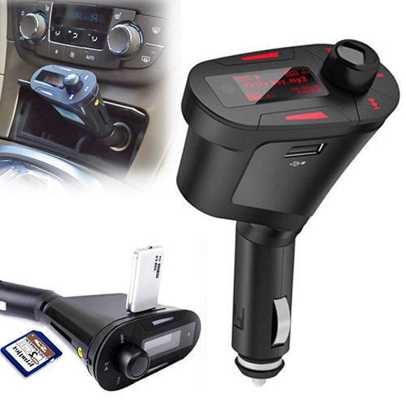 Car Wireless MP3 Player Radio FM Transmitter Modulator USB LCD Remote