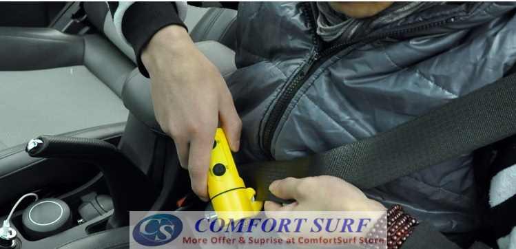 Multi-Function Emergency Hammer LED Flashlight for Auto-Use