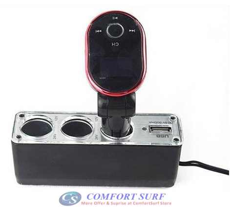 Triple Car Cigarette Lighter Socket with USB Port