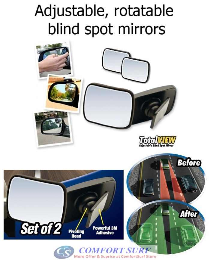 Total View - Adjustable 360 Blind Spot Mirror