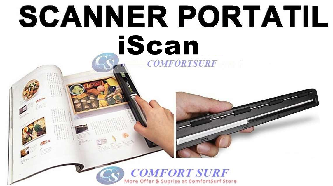 Mini Portable iScan Handheld / Cordless Color Scanner Printer 900dPi