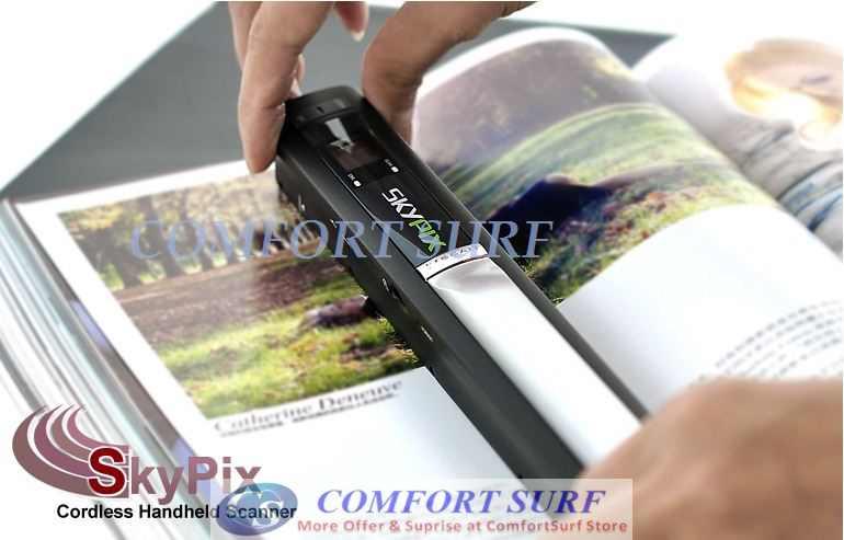 600dPi Mini Portable SkyPix Handheld / Cordless Color Scanner printer