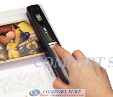600dPi Mini Portable SkyPix Handheld / Cordless Color Scanner printer