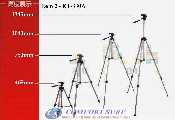 KT-330A Foldable Camcorder & Camera Tripod