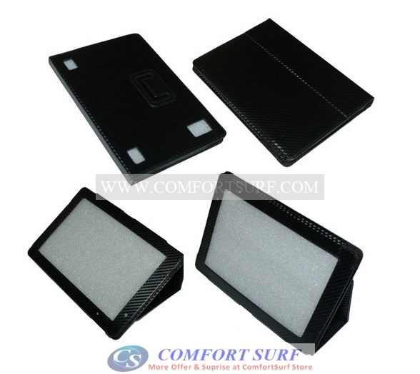Acer Iconia Tab A500 Tablet PC Black Leather Cover Case