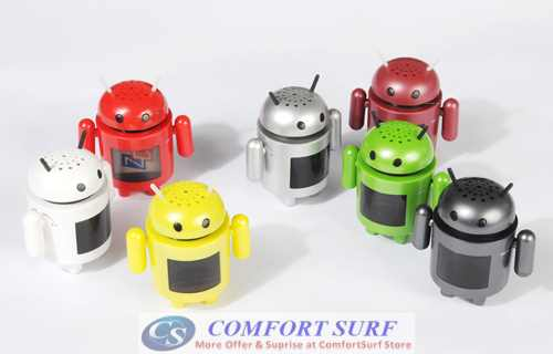Android Robot Speaker with MP3, FM Radio