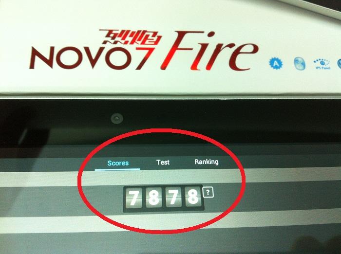 Ainol Novo7 Fire Antutu Score 7878