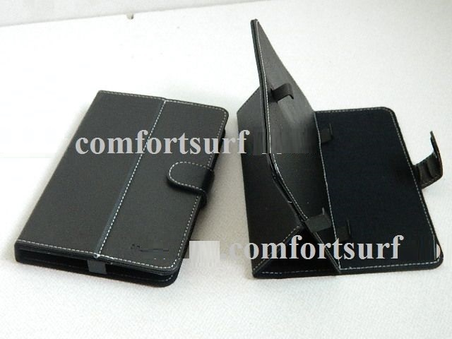 7 inch Quality Flexible Kick Stand Tablet PC Protection Leather Casing / Pouch