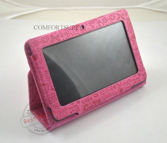 Netpad A13 Back Camera Hole Tablet PC Cartoon Lovely Leather Casing
