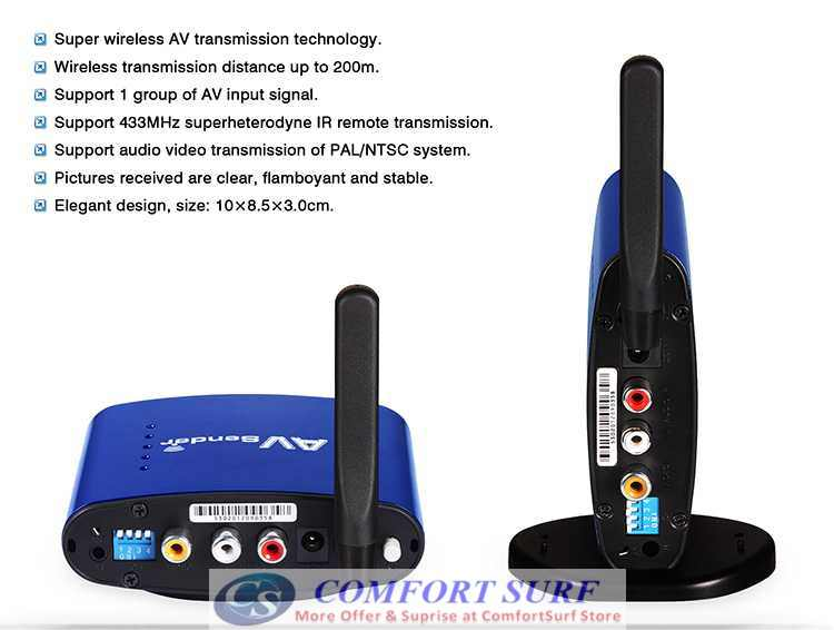 Original Pakite PAT-530 (5.8GHz) Wireless AV Transmitter Astro