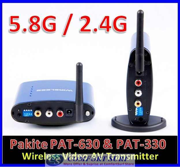 Original Pakite PAT-630 (5.8GHz) & PAT-330 (2.4GHz) Wireless AV Transmitter Astro