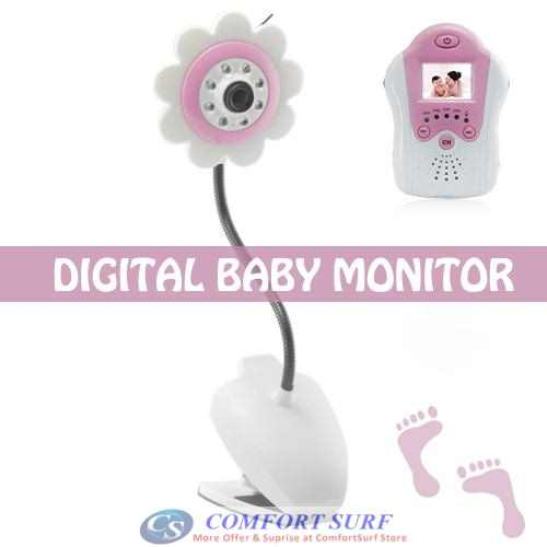 1.5 Inch LCD Wireless Baby Monitor Camera With Voice(Flower Design)