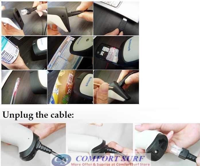 SOONYE USB Wired Laser Barcode Scanner