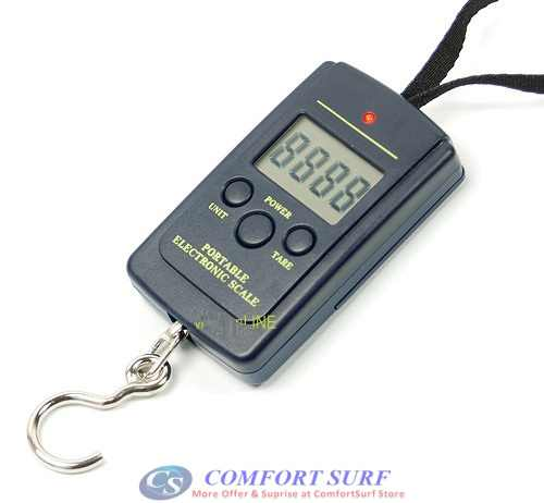 40kg x 10g Portable Electronic Luggage Baggage Travel Scale with Temperature Display