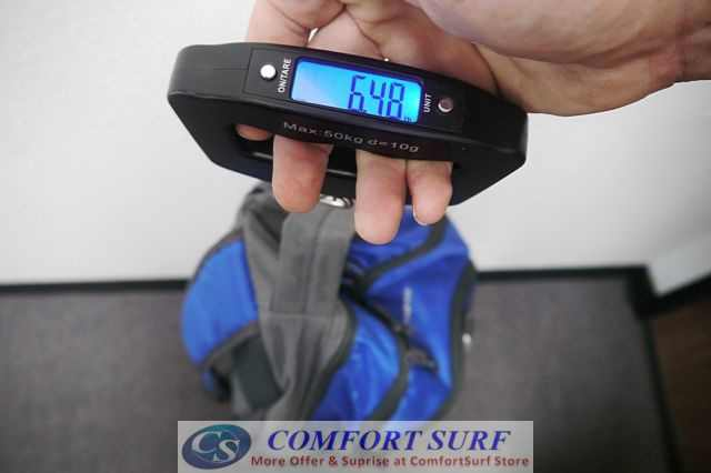 Portable LCD Electronic Luggage Baggage Travel Weighing Strap Scale - 50kg