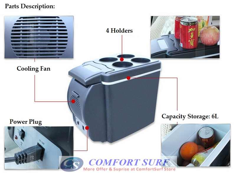 6L Size Car Fridge