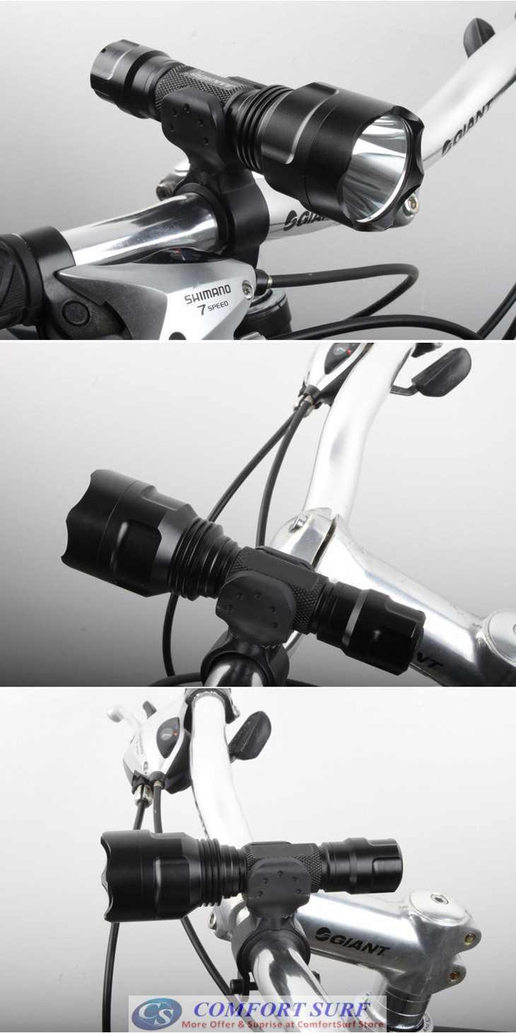 360° Rotatable U Shape Torchlight Holder Clamp Grip for Biycle