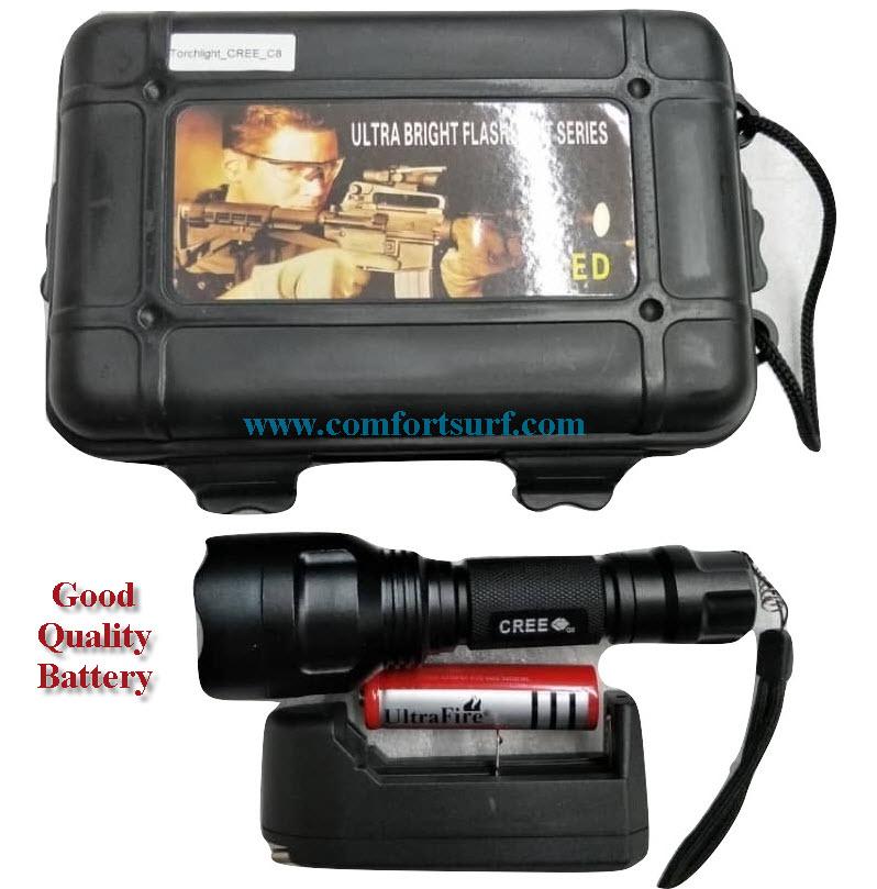 Mini Ultrafire C8 LED Torchlight Flashlight CREE XPE with 5 Mode