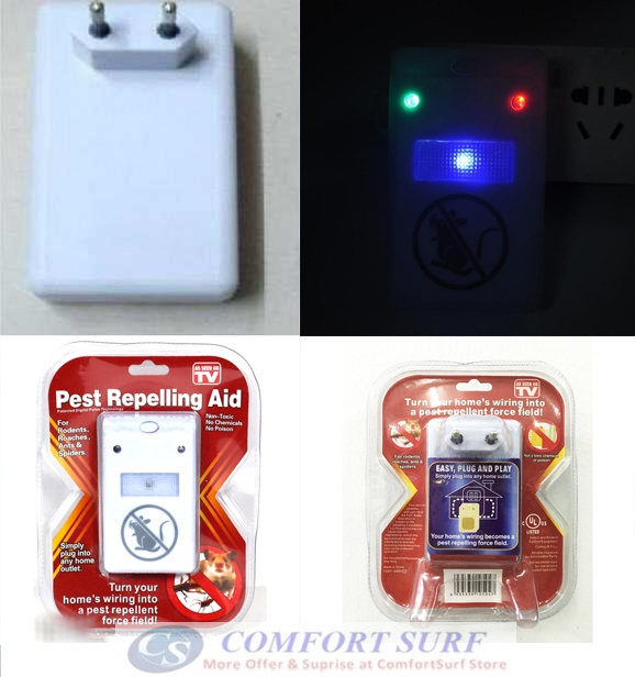 Electronic Ultrasonic Wave Plus Digital Pest Repelling Aid