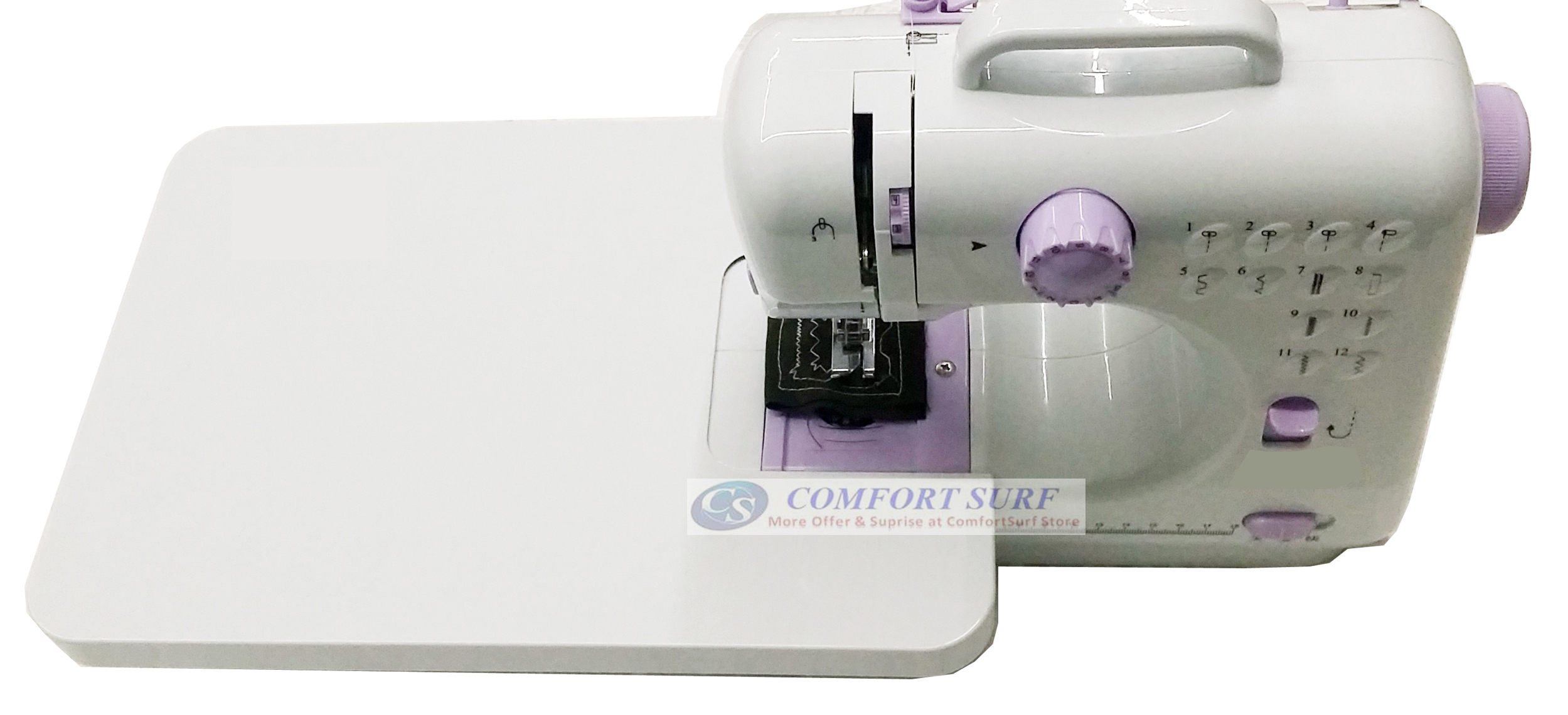 Latest Original FangHua FSHM-505 Pro Upgraded 12 Functions Mini Portable Handheld Sewing Machine / English Version / Manual