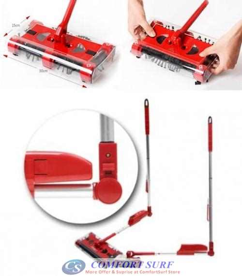 Cordless 360 Degree Swivel Sweeper G6 Quad Brush With