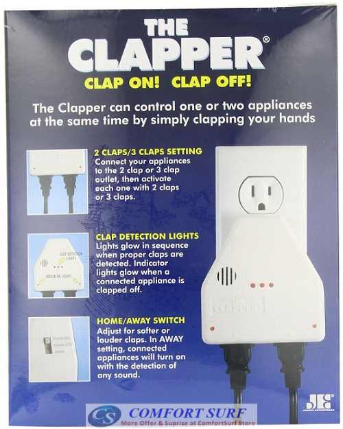 The Clapper Sound Activated Light On/Off Switch