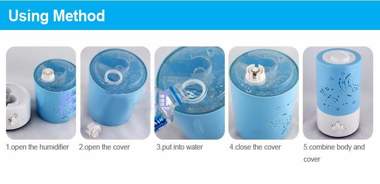 Butterfly Design Ultrasonic Humidifier Fresh Air Cleaner