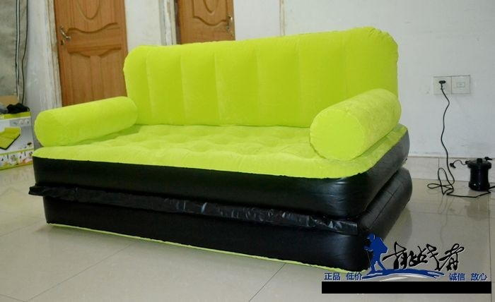 Original BestWay Inflatable Air Sofa Double Seats + Foot Rest + Pumper