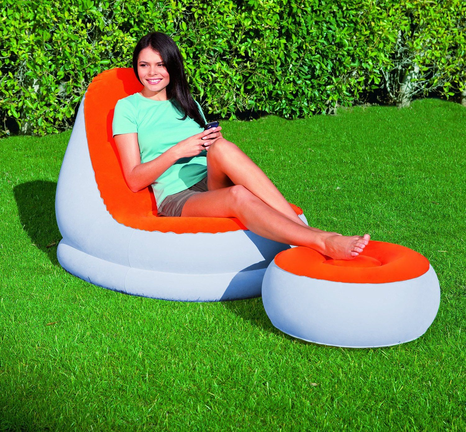 Bestway 75053 Inflatable Relaxing Single Air Chair Foot