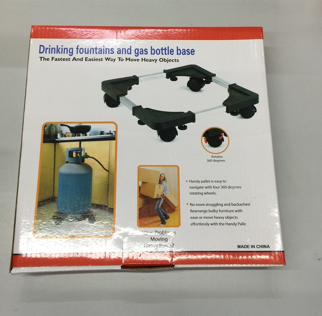 Drinking fountains and gas bottle base