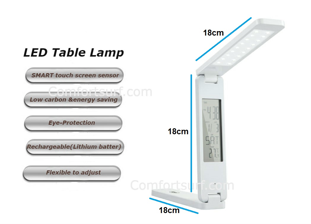 LED table lamp eye protection sensor