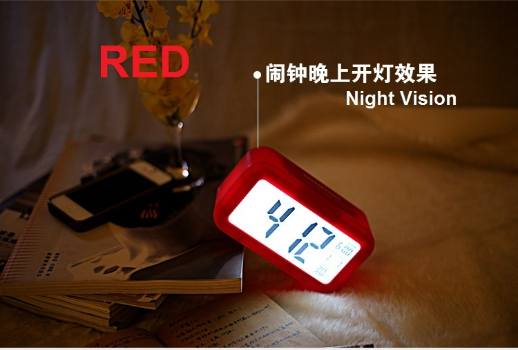 Alarm Clock Night light sensor Temperature