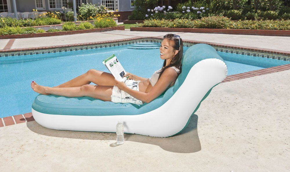 New INTEX 68880NP Inflatable Splash Lounge Relaxing Single Air Chair Pool