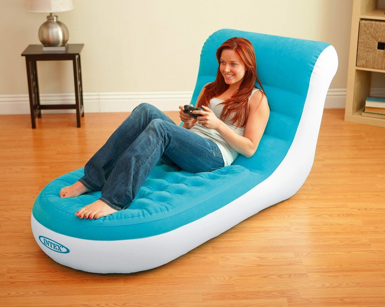 INTEX 68880NP Inflatable Splash Lounge Relaxing Single Air Chair Pool
