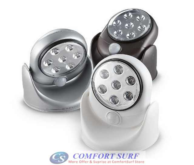 Automatic Indoor / Outdoor Motion Sensor Activated Cordless with 7 LEDs Light