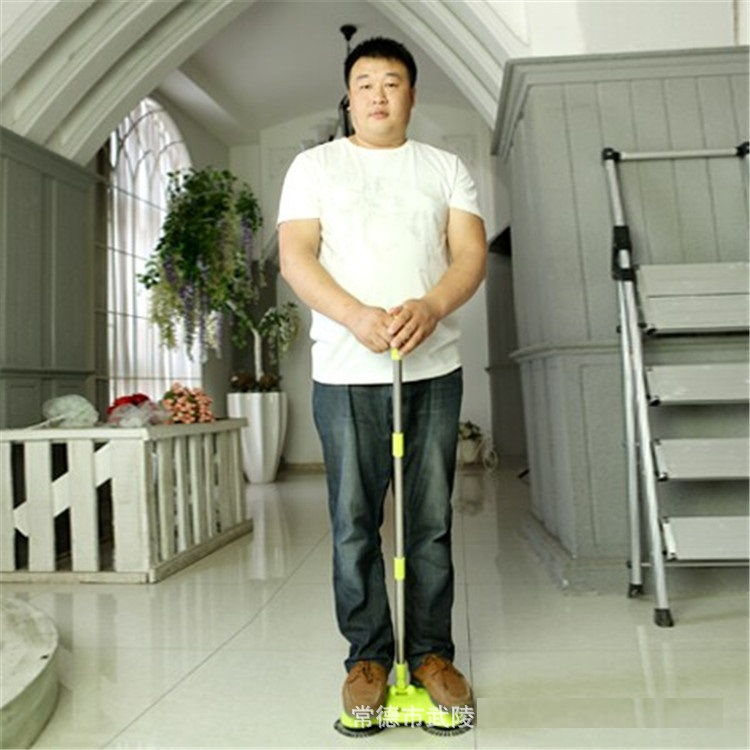 Portable eco Green Sweeper Broom Vacuum Cleaner 360 rotate Without Electricity