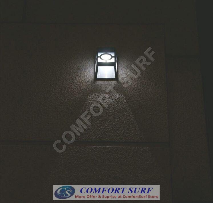 Auto ON Solar Powered Light 2 LED Outdoor Wall Street Oriental Lamp Bulb Light