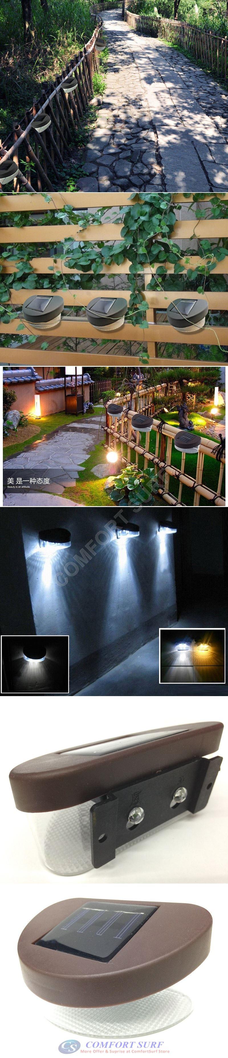 Solar Powered LED Yard Lawn Light Outdoor Landscape Garden Path Gutter Fence Light Lamp