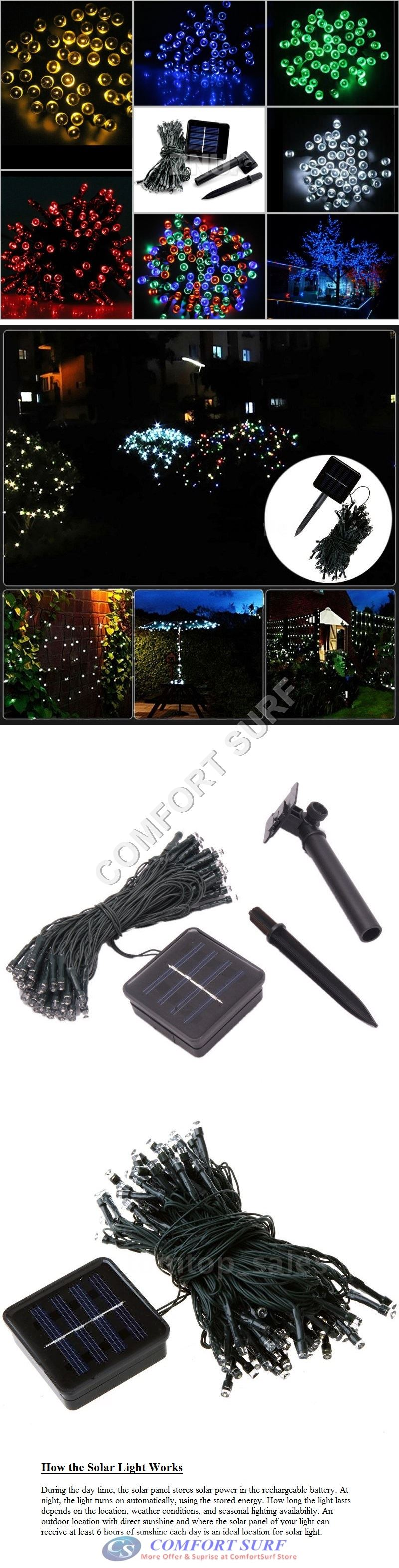 Outdoor Solar Power LED Light Path Way Wall Landscape Mount Garden Fence Decoration Lamp
