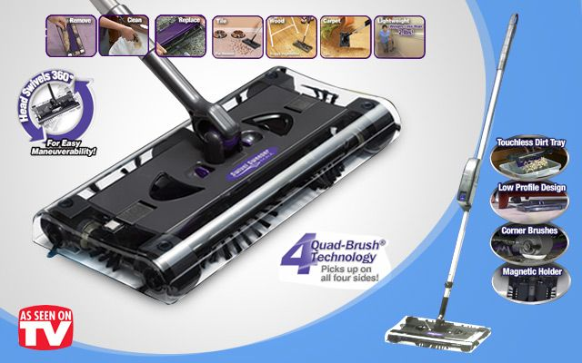 Original Swivel G8 Rechargeable Quad-Brush Sweeper Max As Seen on TV